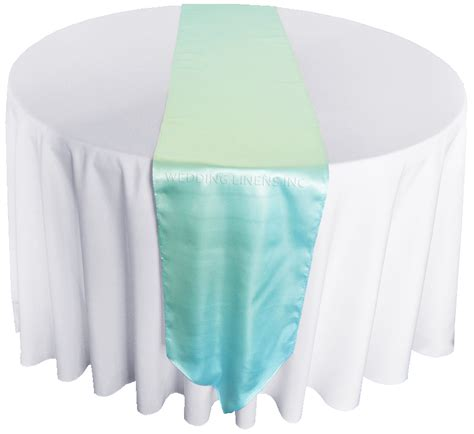 Baby Blue Table Runner by Baby Blue Satin Table Runners Wholesale