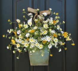 door wreaths with lights country cottage decor front door wreath yellow by