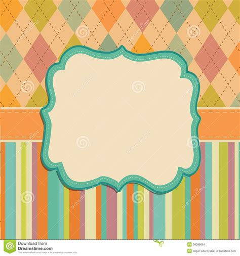 pattern with frame invitation card background border frame patterns stock