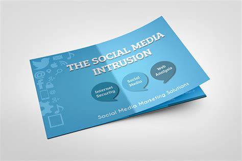 social media bi fold brochure template on behance