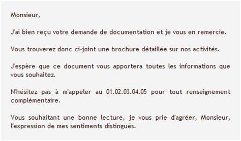 modele lettre transmission documents