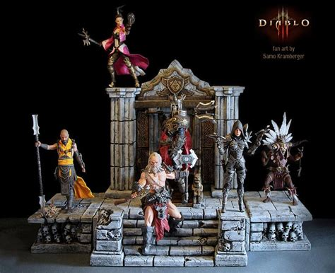 diablo 3 figures awesome diablo 3 fan made figures gadgetsin