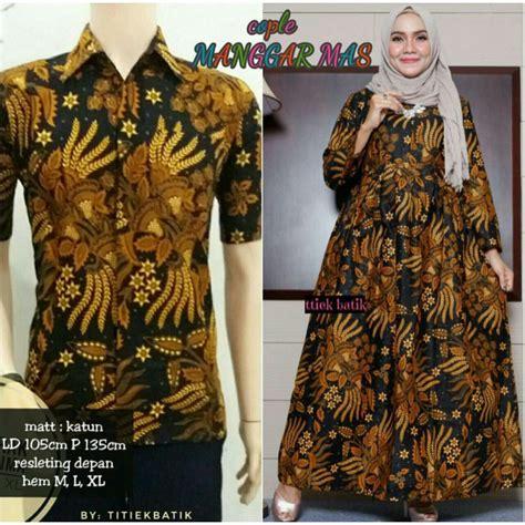 Batik Manggar manggar sarimbit batik exclusive modern