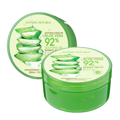 Harga Nature Republic Aloe Vera Untuk Jerawat 1 1 nature republic 300ml aloe vera 92 soothing
