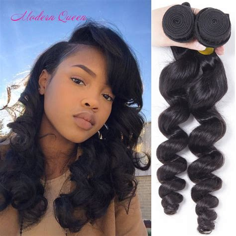 different loose wave hairstyles brazilian loose wave human hair extensions 2 bundles