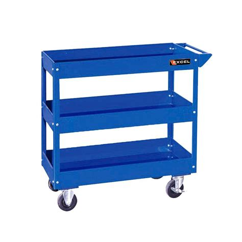 excel 29 in w x 15 1 in d x 30 7 in h steel tool cart