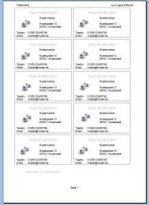 Word Vorlage Visitenkarten Kostenlos Visitenkarten F 252 R Excel Vorlagen F 252 R Word Excel Und Powerpoint