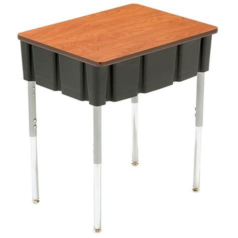 3200 Ovation Series Open Front Student Desks Adjustable Open Front Student Desk
