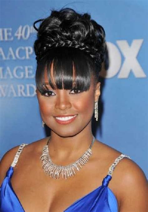 images of black braided bunstyle with bangs in back hairstyle african american short hairstyles 2015