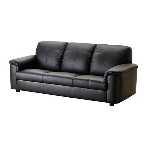 Ikea Leather Sleeper Sofa Timsfors Sofa Mjuk Kimstad Black Ikea