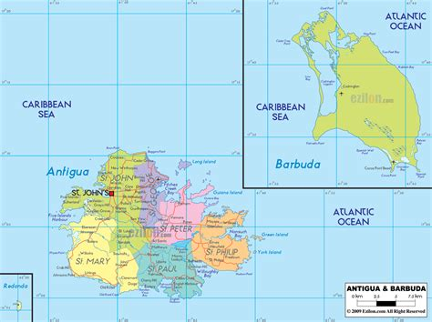 antigua and barbuda map political map of antigua and barbuda ezilon maps