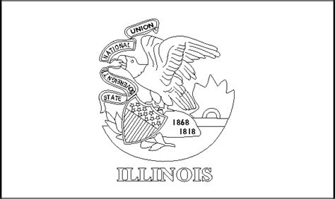 Illinois State Flag Coloring Pages Usa For Kids Illinois State Flag Coloring Page