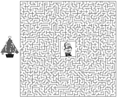 printable christmas tree maze xmas coloring pages