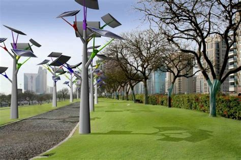 solar power tree solar trees harvest energy during the day to illuminate