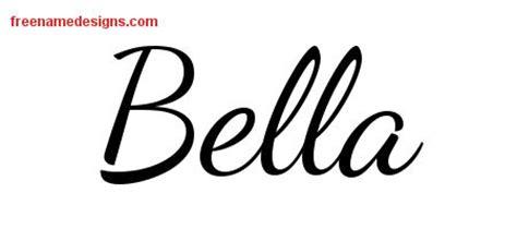 tattoo name bella lively script name tattoo designs bella free printout