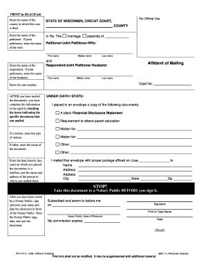 wi court form fa 4121 fill printable fillable