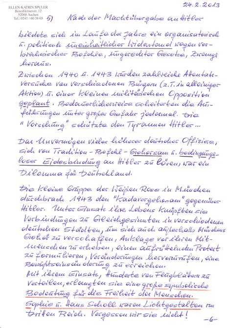 Offizieller Brief Klasse 5 Zivilcourage Lohnt Sich Ein Pers 246 Nlicher Brief
