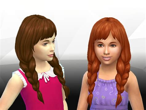 ponytailsims 4 child sims 4 hairs mystufforigin spring braids for girls
