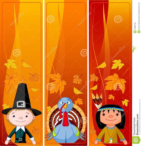 vertical thanksgiving banners stock photography image