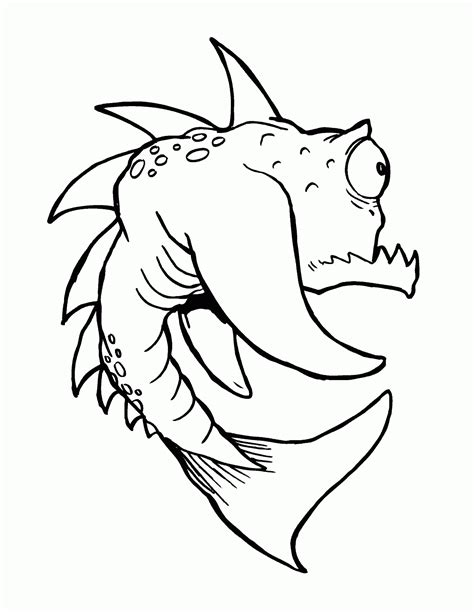 monster fish coloring pages tyler warren s free coloring book