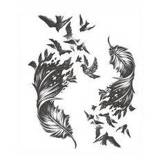 feather tattoo with birds flying away meaning bird music note tattoo tattoos pinterest music notes
