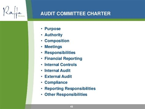 2016 06 22 Role Of The Audit And Finance Committee Audit Charter Template