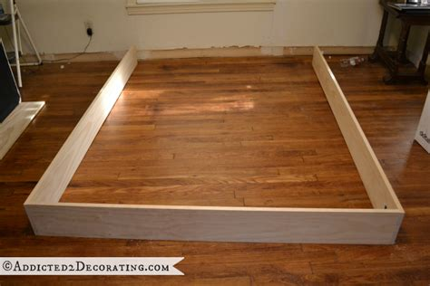 Build Wood Bed Frame How To Build A Platform Bed Woodworking Projects