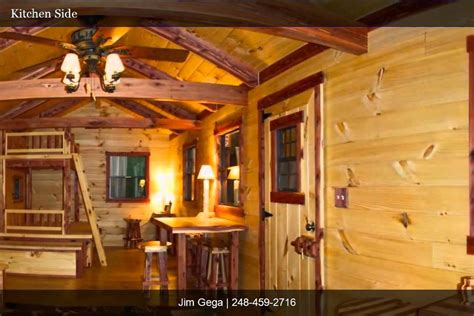 Barn Homes For Sale 10 X 26 Lodge Amish Tongue Amp Groove Log Cabins Youtube
