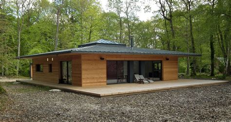 Maison En Pleine Foret by Normandie Une Maison 224 Ossature Bois Carr 233 E En