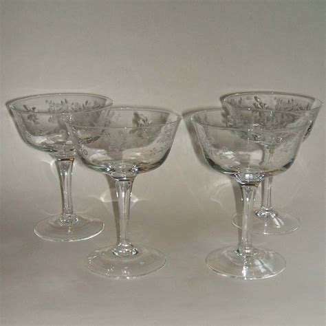 Coupe Wine Glasses Noritake Carolyn Set Of 4 Sherbet Coupe Chagne