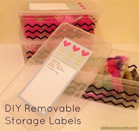 diy dollar store crafts diy removable storage labels and more organization tips