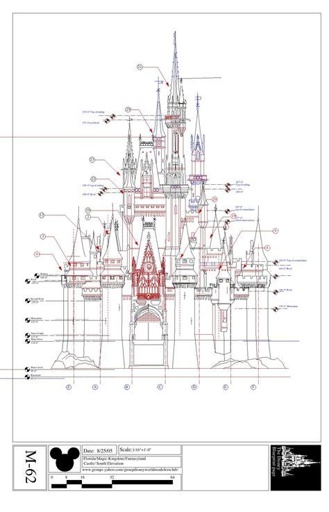 castle blueprint the gallery for gt cinderella castle blueprint