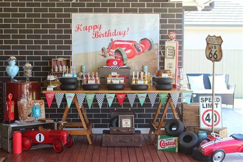 party themes classic party inspirations vintage car themed dessert table by