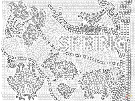 thanksgiving mosaic coloring page spring mosaic coloring page free printable coloring pages