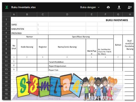 format absensi murid contoh laporan inventaris barang sekolah guru offline