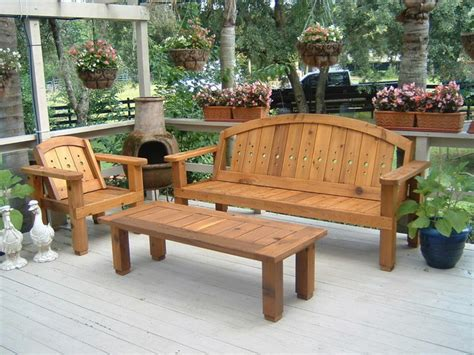 western cedar patio set outdoor benches orlando