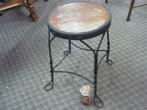 Stool Original by Antique Stool Wrought Iron Twisted Metal