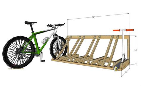 Diy Wooden Bike Rack by Diy Bike And Scooter Rack Tool Belt