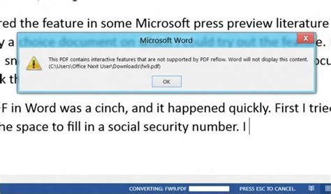 convert pdf to word header problem editing pdfs in word microsoft office 2013 and office