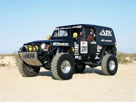 Jeep Racing 0812 4wd 01 Z 1998 Jeep Wrangler Desert Race Car Left
