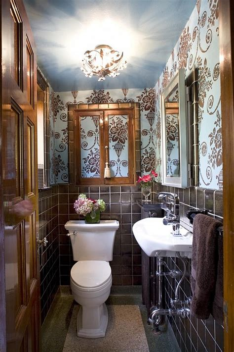 Very Small Powder Room Ideas How To Make A Narrow Powder Room Feel Inviting And