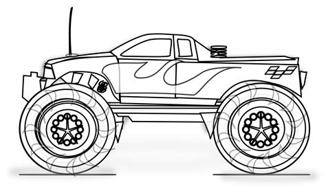 Printable Truck Coloring Page free printable truck coloring pages for