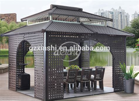 Rattan Pavillon by 2015 Newest Luxury Outdoor Rattan Gazebo Aluminum Wpc
