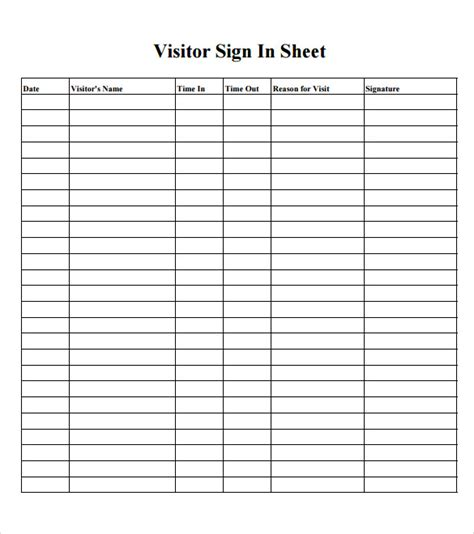 Back To School Sign In Sheet Template by 13 Classroom Sign Out Sheet Back To School Sign In Sheet