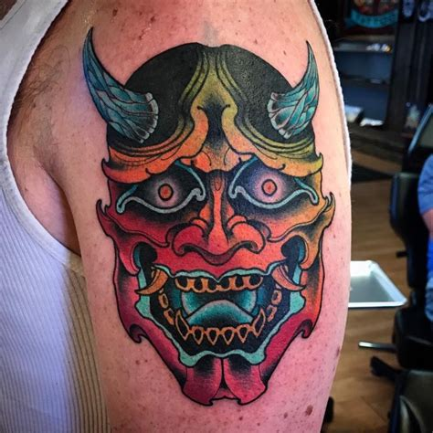 oni mask tattoo meaning japanese oni pictures to pin on tattooskid