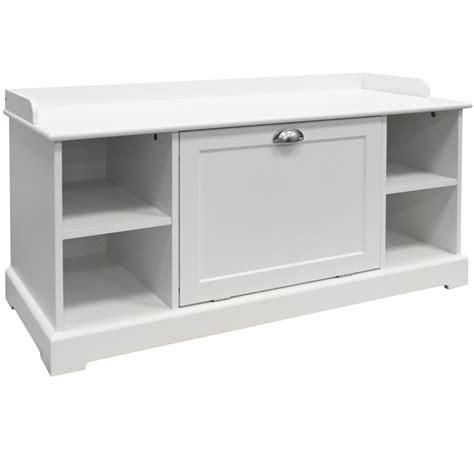 shoe storage bench white wooden hallway 8 pair shoe storage cupboard