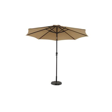 Crank And Tilt Patio Umbrella Hton Bay 9 Ft Steel Crank And Tilt Patio Umbrella In Cafe Yjauc 171 Cafe The Home Depot