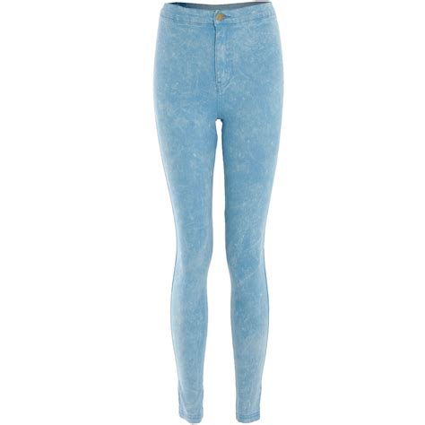 high waisted light wash jeans womens light acid wash skinny fit high waist denim stretch