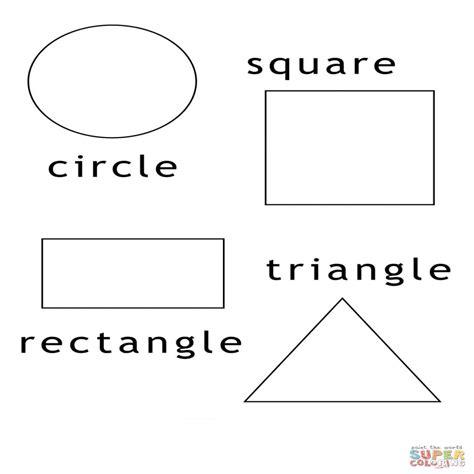 figuras geometricas hojas de trabajo disegno di forme geometriche da colorare disegni da