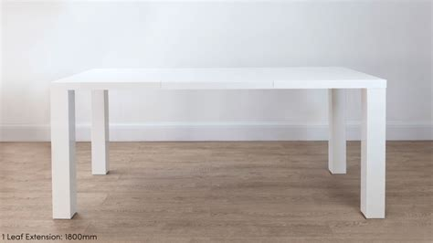 Extending White High Gloss Dining Table 10 Seater Extending White Dining Table